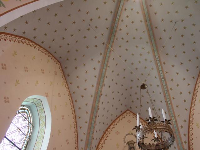Le ciel étoilé de la Chapelle BIS
